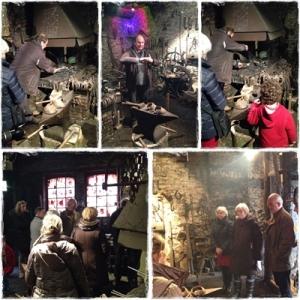 La visite guidée de la Forge par Mr Sivine